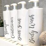 4 Luxury White Pump Bottles.