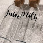 1L Glass Bottle with Cork Stopper