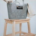 Grey Knitted 'Kitchen' Basket