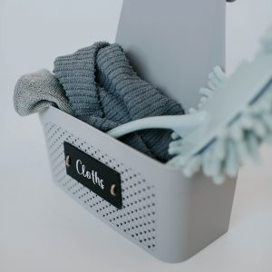 Grey Knitted Over the Door Cloth Caddy