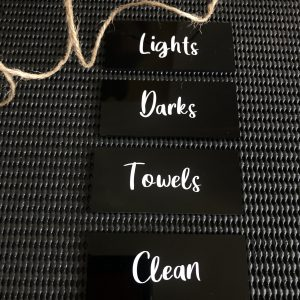 Black Acrylic Tag with Text (No Holes)
