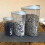 3 Cereal Storage Containers