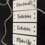 White Acrylic Tag with Text (Holes)
