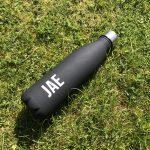 Matte Black Personalised Water Bottle