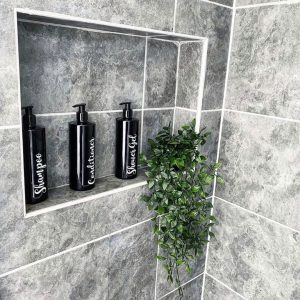 4 Luxury Black Pump Bottles – DYO