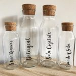 500ml Glass Bottle with Cork Stopper