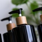 4 Luxury Bamboo & Black Pump Bottles – DYO