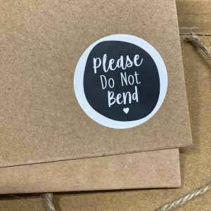 Do Not Bend Stickers x 48