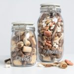 Personalised Dog Treat Jar With Ceramic Paw Lid