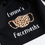 Personalised Face Mask Drawstring Bag