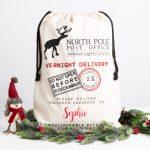 Personalised Reindeer Christmas Santa Sack