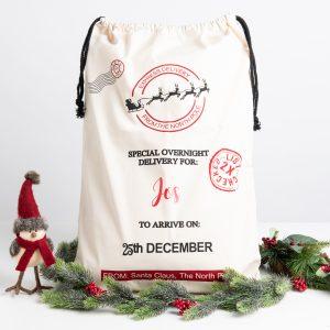 Personalised Sleigh Christmas Santa Sack