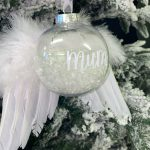 Personalised 'In Memory' Bauble with Wings