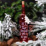 "Light up Red ""Wonderful Time"" Glass Bottle"