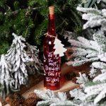 "Light up Red ""Wonderful Time"" Glass Bottle"