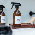 Customisable Glass Amber Spray Bottle with White Label – 500ml