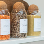 Set of 3 Medium Customisable Glass Jars with Cork Ball Lid