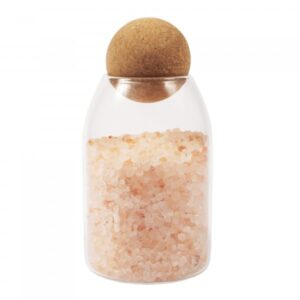 INDIVIDUAL 0.8L (MED) GLASS JAR WITH CORK BALL LID