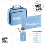 Set of 3 Personalised BACK TO SCHOOL SET with 5 free labels*