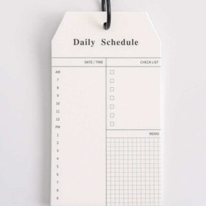 Daily Schedule Flip Notepad